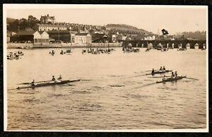 1920 BIDEFORD REGATTA TOWARDS BRIDGE REAL PHOTO POSTCARD NORTH DEVON