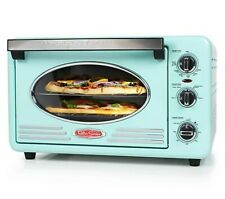 Nostalgia Convection Toaster Oven Built-in Timer Adjustable Temperature 12-Slice