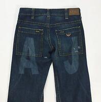 Armani jeans W31 L34 tg 45 comodo loose usato boyfriend blu rilassato uomo T1315