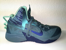 NEW NIKE ZOOM HYPERFUSE 615896-300 MNRL TEAL/BRAVE BLUE/GREEN GLOW MEN 10.5 NWOT
