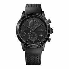Hugo Boss Men's Rafale HB1513456 Black Dial Leather Strap Chronograph Watch