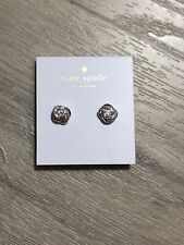 studs Earrings Clear Silver Tone Kate spade infinity & beyond knot