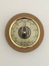 Wall Barometer Weather Instrument Solid Ash Wood Mount Ideal Gift New