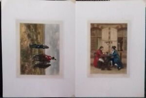 W A COX - TWO ARTIST PROOF ENGRAVING'S, AFTER MEISSONIER. SIGNED. 1925