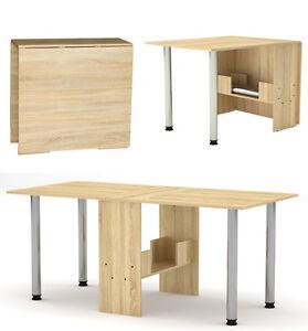 Klapptisch Esstisch klappbar Funktions -Büro -Tisch Sonoma Eiche Holznachbildung