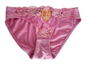 Womens Panties Size Large Pink Bikini Underwear Sexy Floral Lace Panty NWT