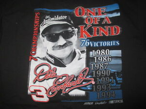 DALE EARNHARDT ONE OF A KIND 76 Victories 1980 86 87 90 91 93 94 (2XL) T-Shirt
