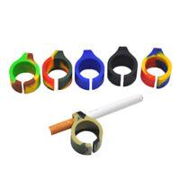 5 PC Silicone Cigarette Finger Ring Holder For Regular Smoking Smoker Hand Rack