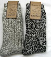 2 pares calcetines con gran cantidad Lana Punto Grueso De Claro y gris oscuro 47