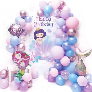 Mermaid Tail Balloon Garland Arch Mermaid Theme Birthday Party Decorations