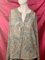 Lemon Grass Women's Blouse Sz XL Polyester Beautiful Color Long Sleeve Pullover