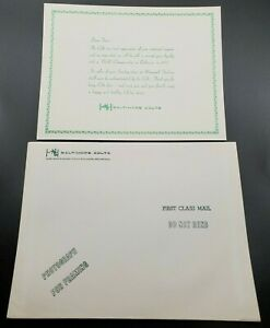 1969 Baltimore Colts Happy Holidays Letter / Christmas Card and Envelope