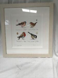 Garden Birds Framed Picture By Madeleine Floyd