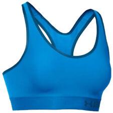 Sujetadores deportivos de deporte de mujer azules de poliéster