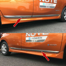 Chrome Body Door Molding Overlay Cover Trims Fit Nissan Versa Note 2017 2018