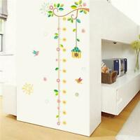 Children Kids Room Height Growth Chart Measure Wall Sticker Animal Decal Decor