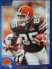 NFL 136 Kevin Johnson Cleveland Browns Topps 2000