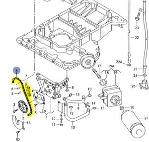 Genuine AUDI A4 S4 Avant quattro A6 allroad qu Oil Pressure Line 4B0317821J