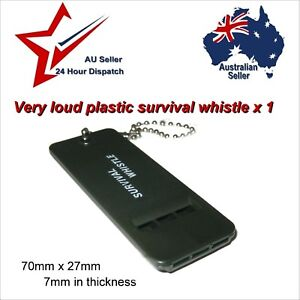 Light Weight Survival Whistle - camping hiking walking emergency gear backpack