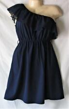 Junior's One Shoulder Dress Size Small Navy Blue