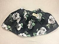 New black skirt Forever 21 womens size XS floral mini skirt flowers