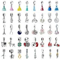 European Love Pendant Charms Bead Fit 925 Silver Sterling Bracelets Necklace