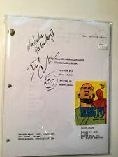 Kung Fu tv show original script signed by David Carradine w/COA