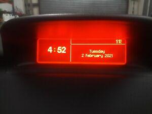 PEUGEOT 307 MULTI FUNCTIONAL DISPLAY UNIT DIGITAL CLOCK RADIO LCD CC 180 HDI MFD