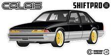 VL Calais Holden Commodore Sticker  Black with Gold Simmon Rims - ShiftPro Brand