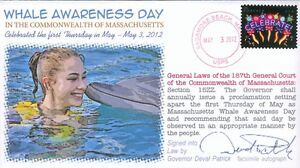COVERSCAPE computer designed Massaschusetts Whale Awareness Day event cover