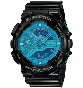 CASIO GA-110B-1A2 G-SHOCK Analog Digital Resin Strap Blue Black
