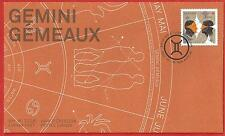 2011  Canada  OFDC # 2451  Gemini    Sign of the Zodic   New and  Unaddressed