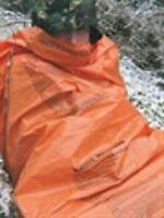 BCB CL044 EMERGENCY HI-VIS HEAVY DUTY POLYTHENE PRINTED SURVIVAL SLEEPING BAG