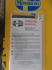 MOSSBERG 500 505 535 590A1 835 Shotgun OWNER MANUAL PACKET w/Lock Ships FREE!