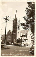 Real Photo Postcard RPPC ~ Cedartown GA  ~ First Baptist Church ~ Polk County
