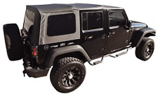 2007-2009 JEEP WRANGLER UNLIMITED BLACK SOFT TOP & TINTED REAR WINDOWS 4 DOOR
