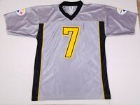 Ben Roethlisberger #7 Pittsburgh Steelers NFL Football Gray Jersey Adult L