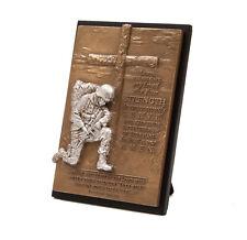 Kneeling Soldier Isaiah 40:31 Cast Plaque 4-1/2 x 6-1/2 inches