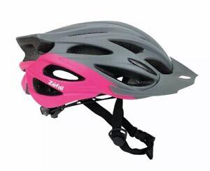 Zefal Women's Pro Gray Pink Bike Helmet Universal Dial, 24 Large Vents, New