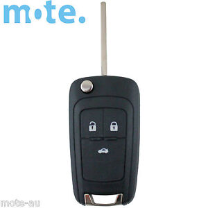 To Suit Holden Barina/Cruze/Trax 3 Button Remote Flip Key Blank Shell/Case