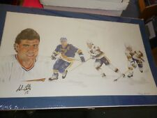 RARE ADAM OATES AUTOGRAPHED LIMITED EDITION LITHOGRAPH MATTED 297/550.