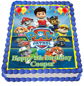 PAW PATROL  REAL EDIBLE ICING  CAKE TOPPER PARTY IMAGE FROSTING SHEET