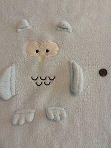 Go Kids Blue Owl Plush Child Blanket Fleece Soft Travel Button Lovey