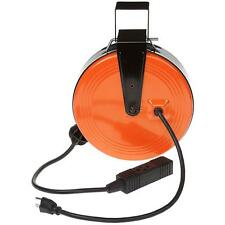 Hdx Electric Heavy Duty Retractable Reel with 3-Outlets 30 ft 16/3 10-Amp