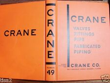 1949 CRANE CO Valves Fittings ASBESTOS Insulation Gaskets Products CATALOG #49