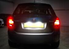 2x SKODA FABIA OCTAVIA XENON WHITE LED Number Plate Light Bulbs NO-ERROR UPGRADE