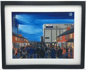 Grimsby Town FC Blundell Park Stadium High Quality Framed Art Print. Approx A4.