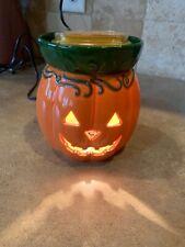 Scentsy Warmer Jack O Lantern Pumpkin Fall Halloween With simply Nashi pear Bar