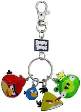 Angry Birds Set of 4 Style 1 Metal Keychains
