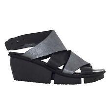 "TRIPPEN Women's Leather ""Ariane"" Sandals Eu 40 New SS17 Black/Grey"